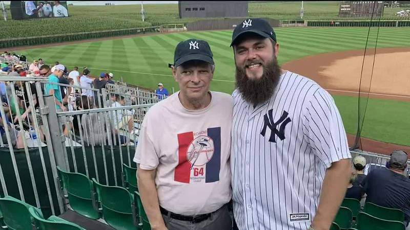 Dan McClean got to watch the Field of Dreams game with his son Matt