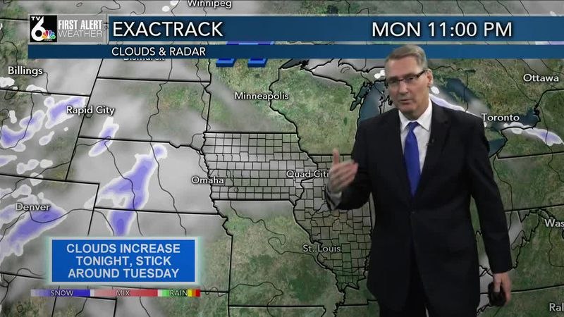 First Alert Forecast - Cloudy and Chilly Tuesday