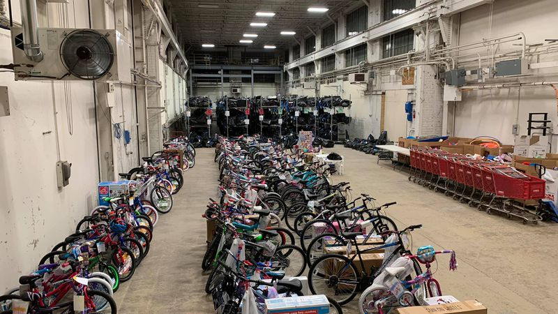 Toys for Tots started distributing toys in the Quad Cities on Friday.