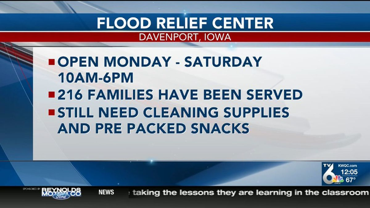 More people are lending a hand with the flood recovery. Palmer Chiropractic is offering free services at the Salvation Army Flood Donation and Distribution Center in Davenport on Friday.