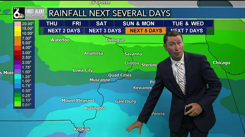 Daily rain chances into early next week