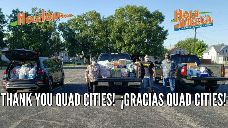 Hola America, one of the groups that hosted the drive says they collected 2 and a half trucks...