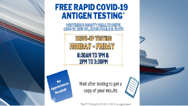The Whiteside County Health Department is offering free rapid COVID-19 tests. (KWQC)