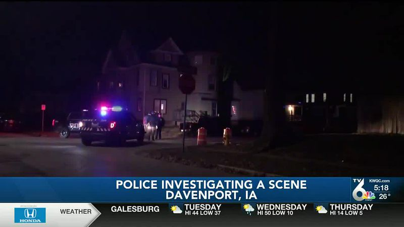 Large police presence seen in Davenport Monday night