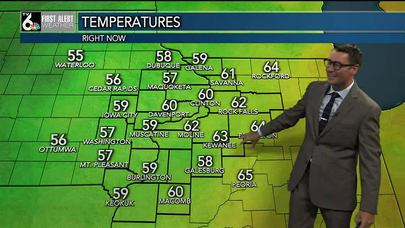 Cooler and breezy this week