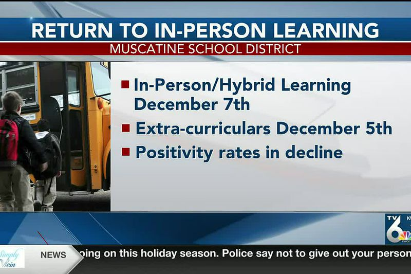 Muscatine schools will offer in-person learning again starting Monday
