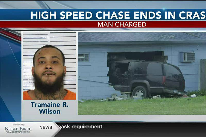 Tramaine R. Wilson is facing several charges after leading police on a high-speed chase and...