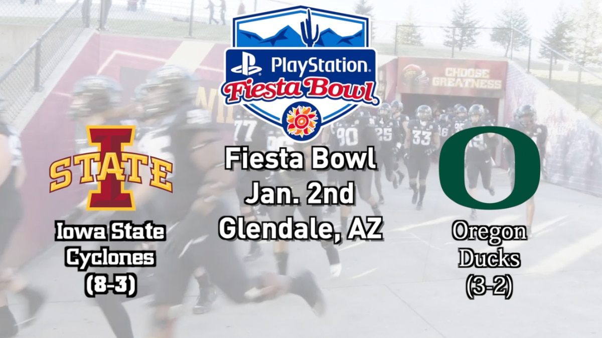 Iowa State to face off with Oregon in the Fiesta Bowl