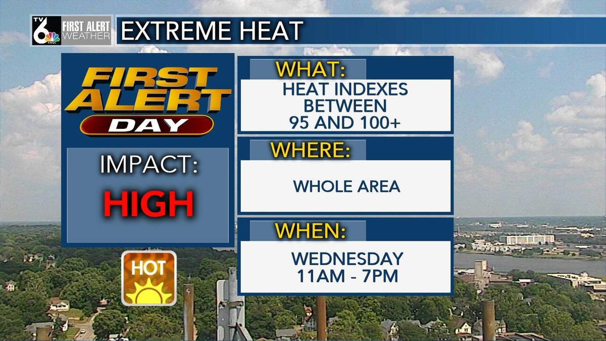 A heat Advisory from 11 a.m. - 7 p.m.