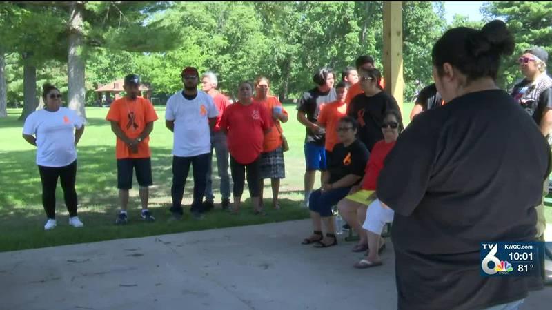 Burlington family holds vigil for Gun Violence Awareness Month