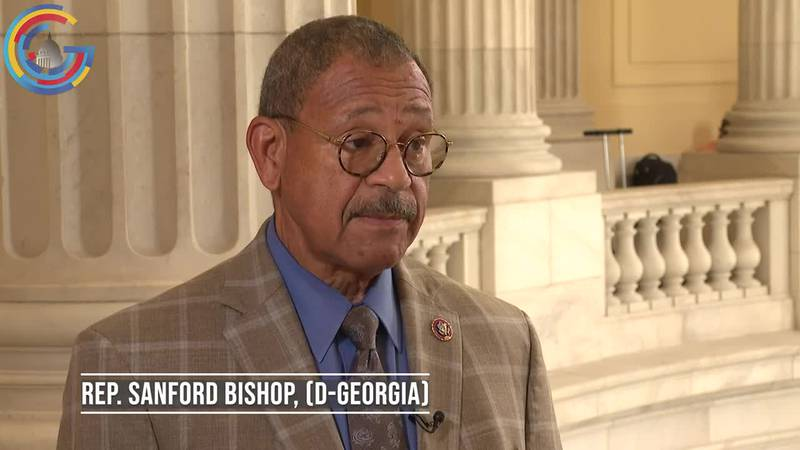 Rep. Sanford Bishop (D-Ga.) discusses the new memorial at Fort Benning that will honor the life...