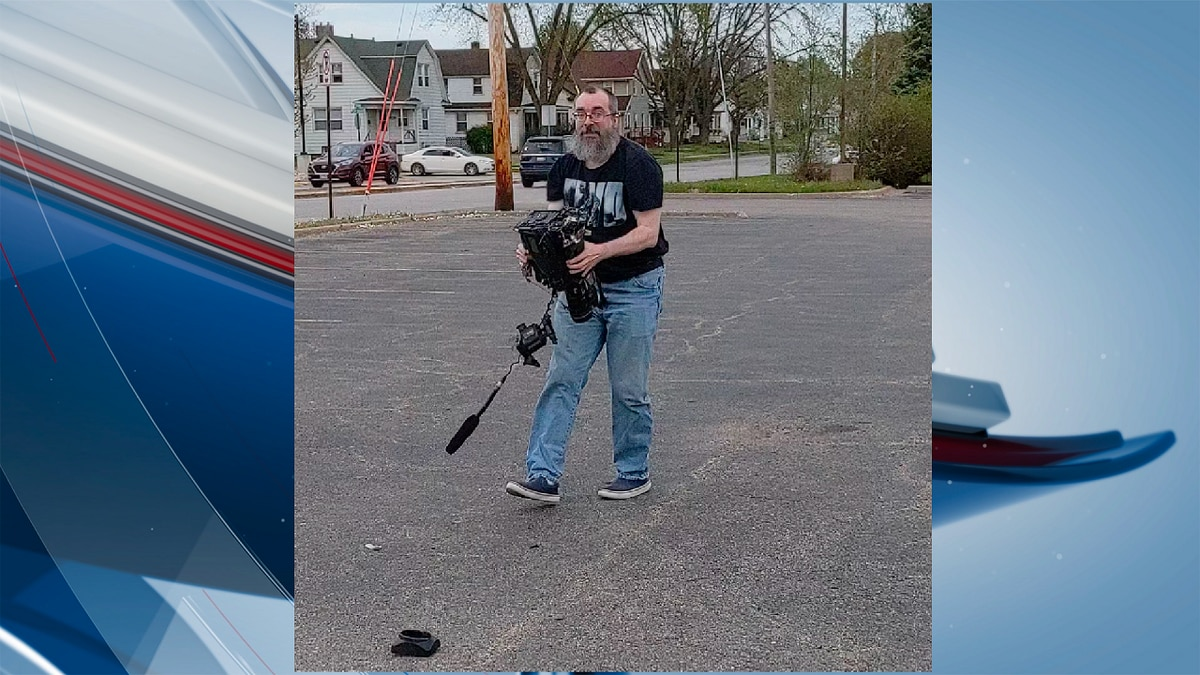 Police are looking for a person who attacked a local photojournalist. This is a still image of...