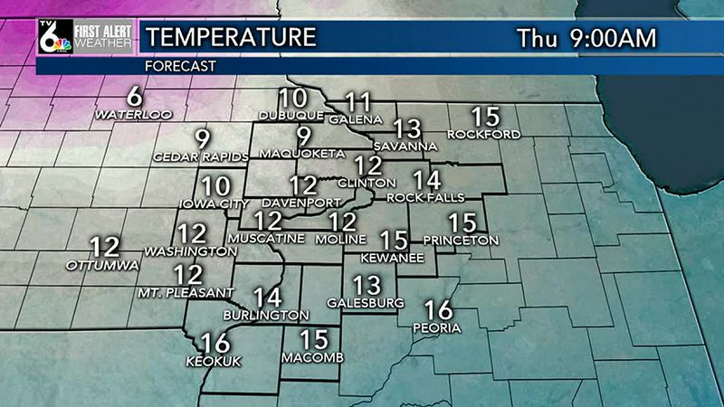 Low chills Thursday and Friday