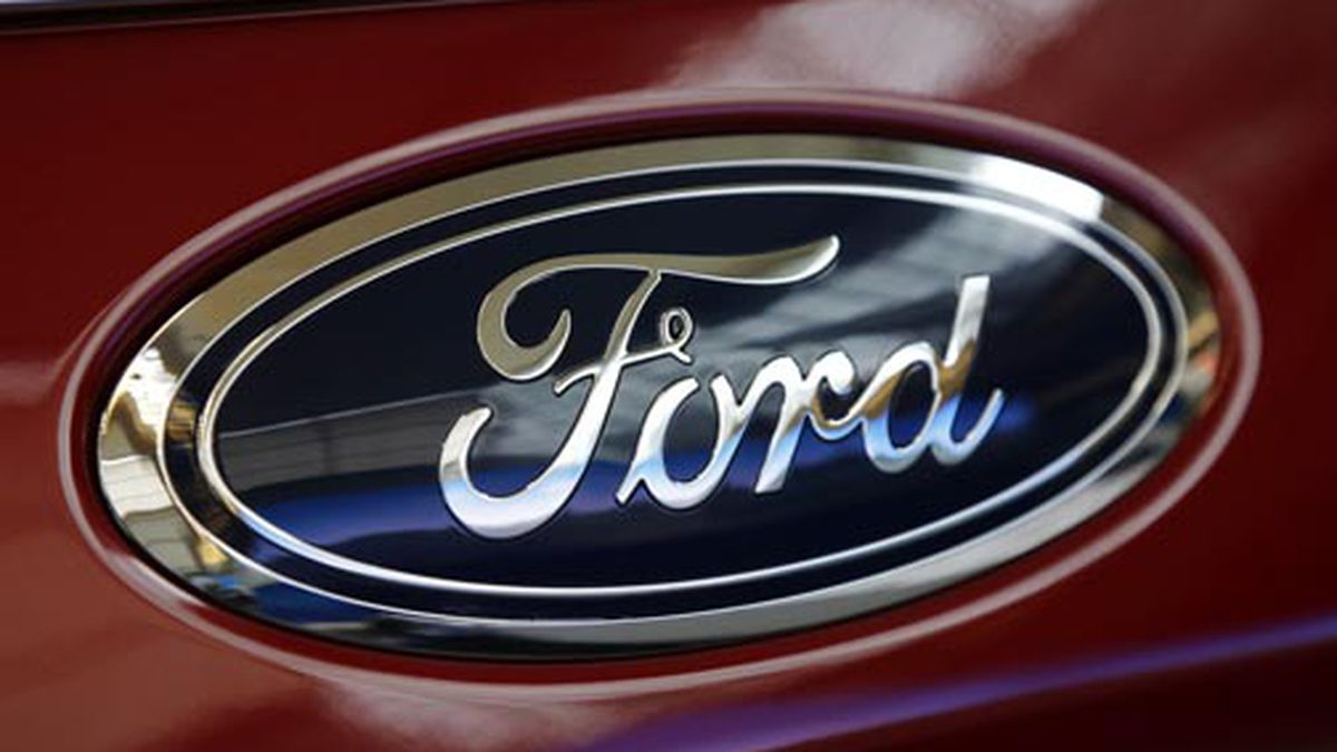 This Feb. 15, 2018 file photo shows a Ford logo on a vehicle at the Pittsburgh Auto Show in...