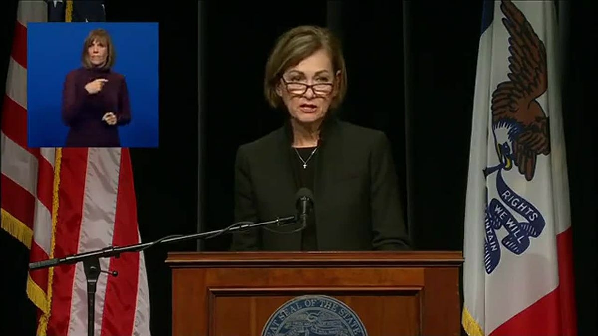 Iowa Governor Kim Reynolds released a statement regarding the litigation concerning the 2020...