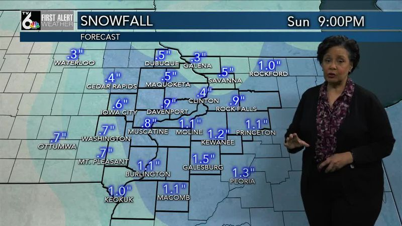 Snow showers this morning, then cloudy, breezy and cool during the day