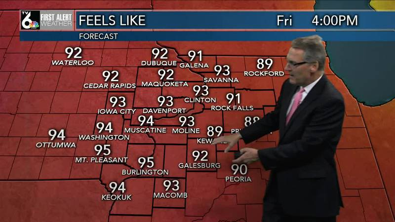 First Alert Forecast - A very warm night with heat indexes approaching 100 on Friday!