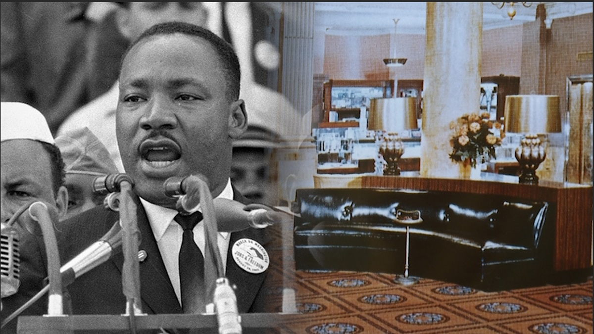 Civil rights activist Martin Luther King Jr. sat on black, leather couches in the lobby of the Willard Intercontinental Hotel to meet with his advisors the day before his famous speech.  (Source: Gray DC)