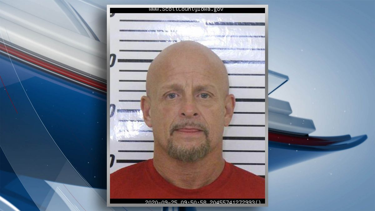 Online jail records show Nicholas Travis Warner, 51, was booked into the Scott County Jail around 9:45 a.m. Friday on three counts of assault on persons in certain occupations and one count each of interference with official acts, operating while under the influence-second offense, possession of a controlled substance, and eluding, a serious misdemeanor. (KWQC/Scott County Sheriff's Office)