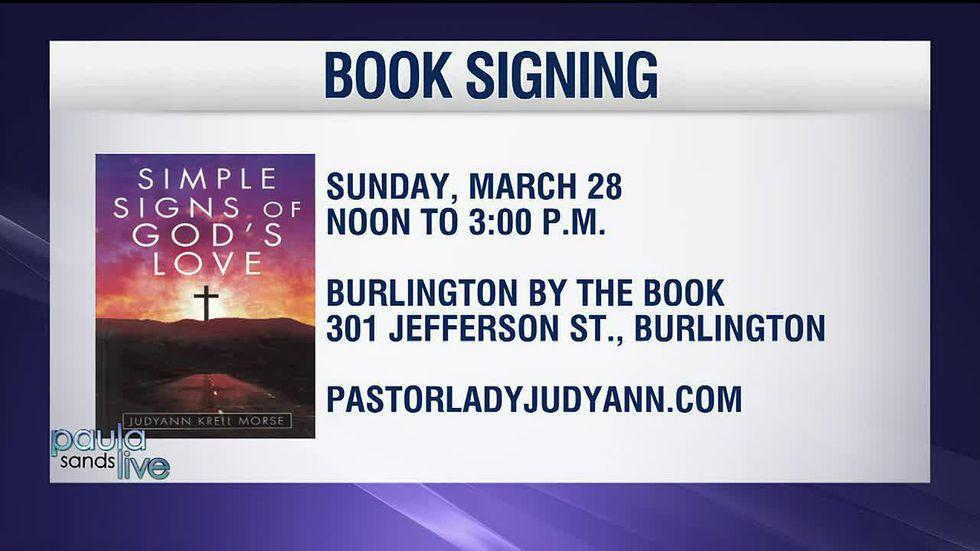 Pastor JudyAnn book signing info