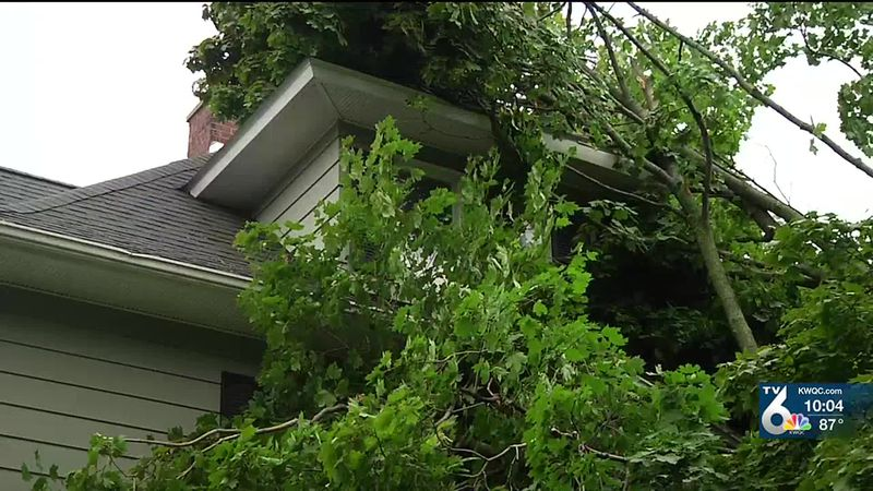 Severe storms cause damage to many QCA homes Monday