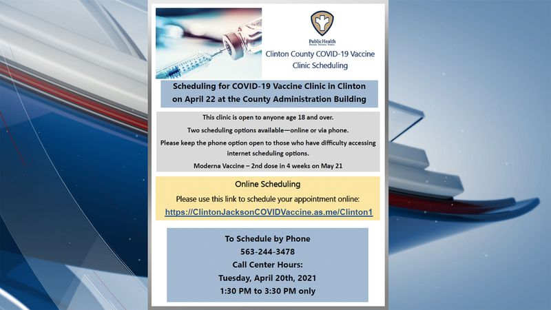 Scheduling is available for those wishing to get vaccinated in Clinton County.