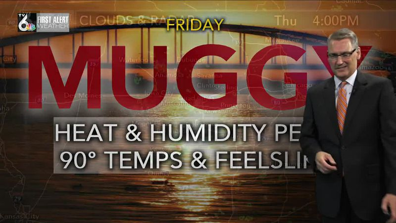 First Alert Forecast - Heat and humidity peak Friday