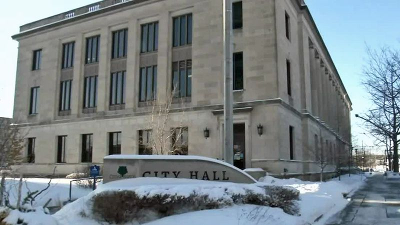 City Hall in Cedar Rapids on Tuesday, Feb. 9, 2021.