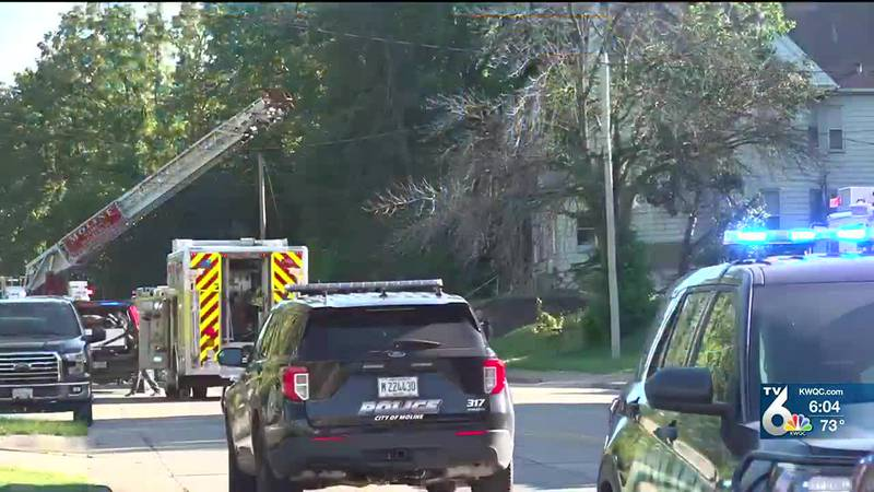 Crews respond to house fire in Moline