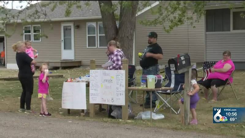 Camanche family puts together a lemonade stand to help cover medical costs for 3-year-old...