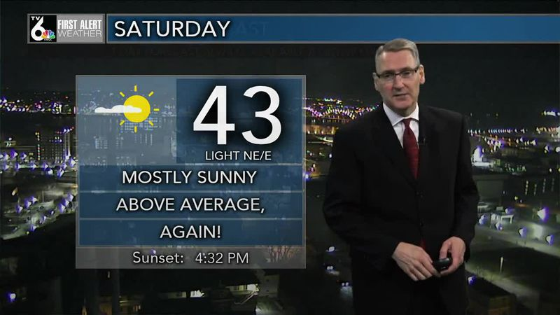 First Alert Forecast - Sun starts out our Saturday
