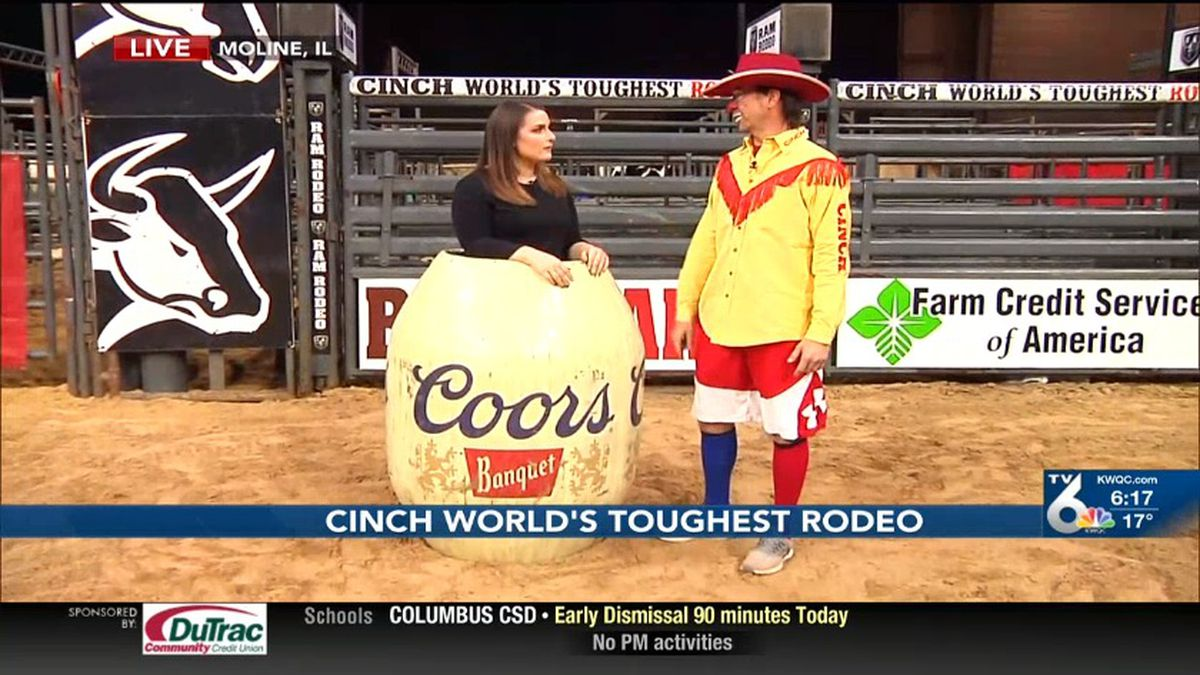 TV6's Jenna Jackson goes behind the scenes at the Cinch World's Toughest Rodeo.