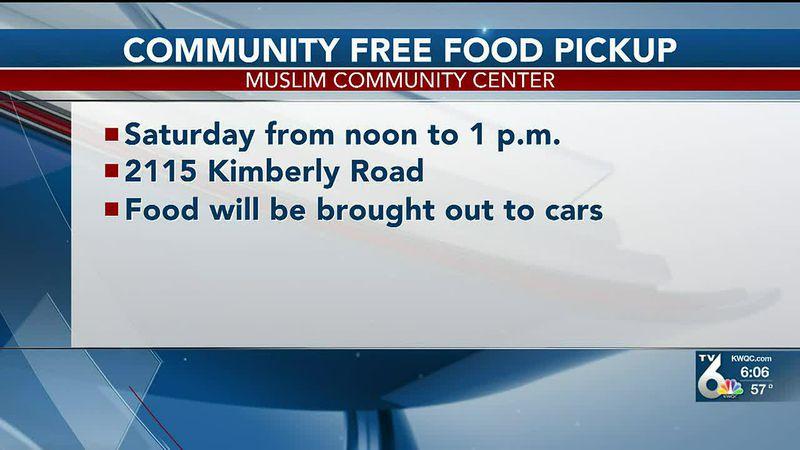 Community Free Food Pickup at Bettendorf Muslim Center