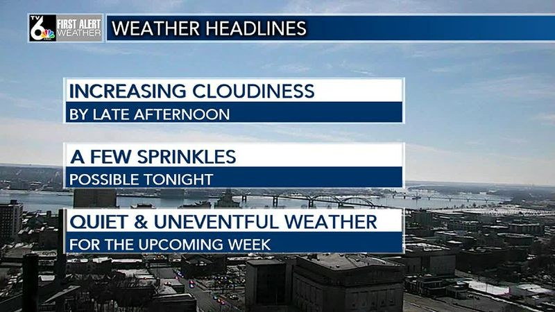 Enjoying the sunshine? We'll see more ahead this coming week!