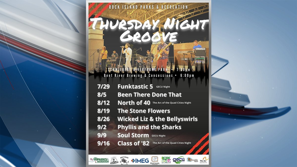 The city of Rock Island will be holding a free concert series starting this week on July 29....
