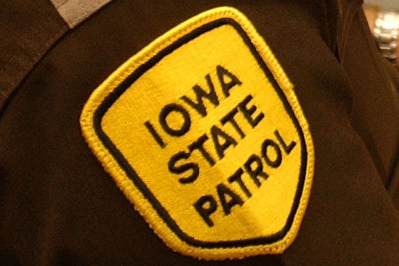 FILE-The patch of the logo for the Iowa State Patrol on the shoulder of a deputy. Photo date:...