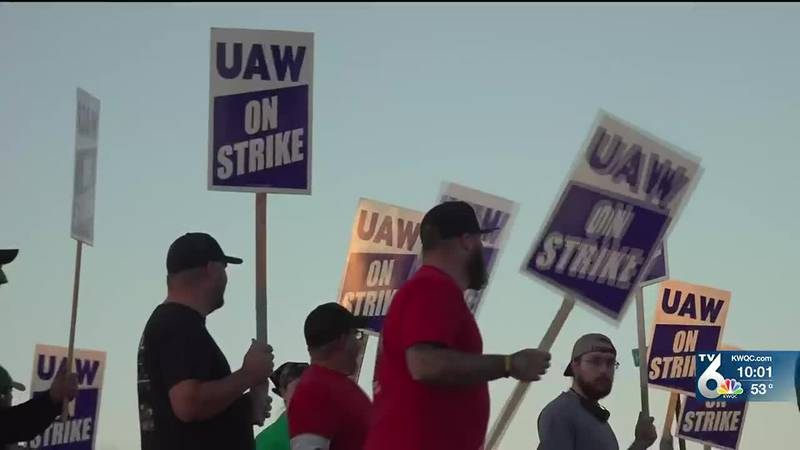 As cars drove by, several honked in support of those on the picket line. Union members say,...