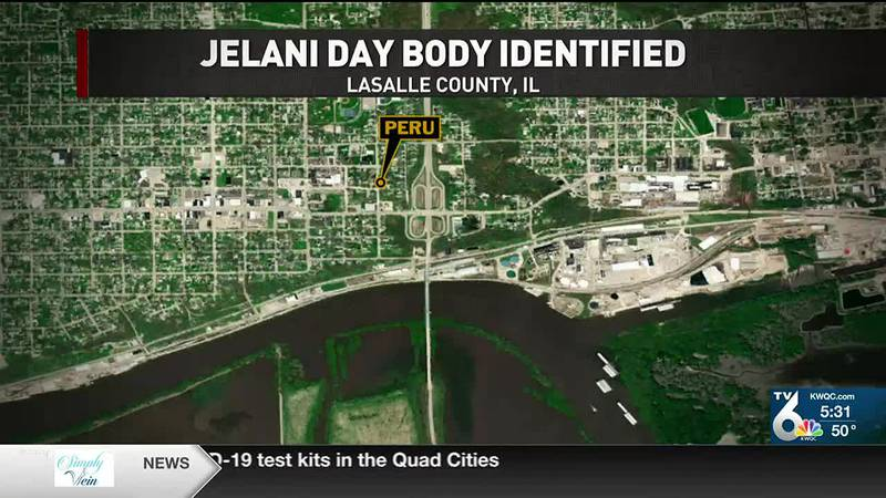 The LaSalle County Coroner identified a male body found on Sept. 4 as Jelani Day, 25, of...
