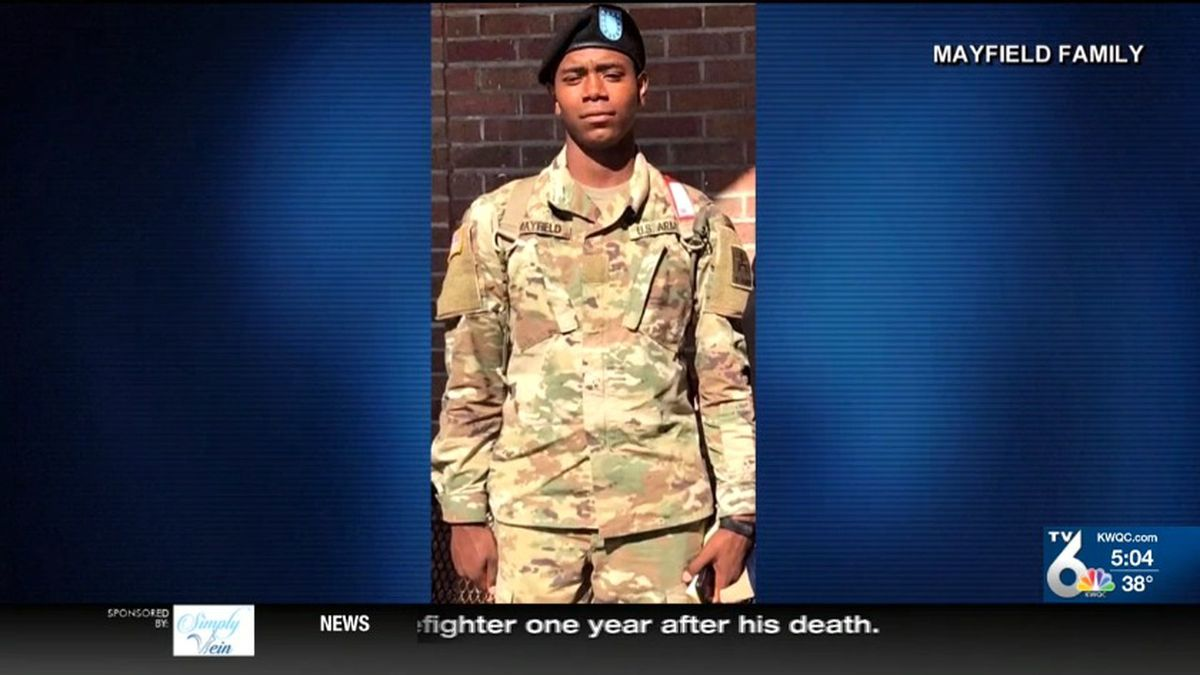 The family of Henry Mayfield Jr. of Hazel Crest confirmed his death Monday. The 23-year-old held the rank of Army Specialist. (NBC)