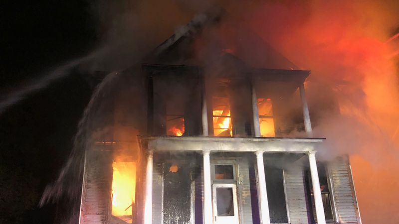 The fire happened at a historic home on the 500 block of West 5th Street in downtown Davenport...