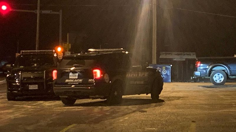 There was a police presence in the parking lot of the Esperanza Center in Moline Wednesday night.