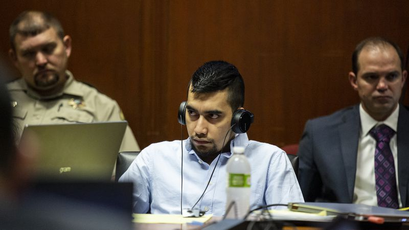 Cristhian Bahena Rivera listens to court proceedings during his trial Wednesday, May 26, 2021,...