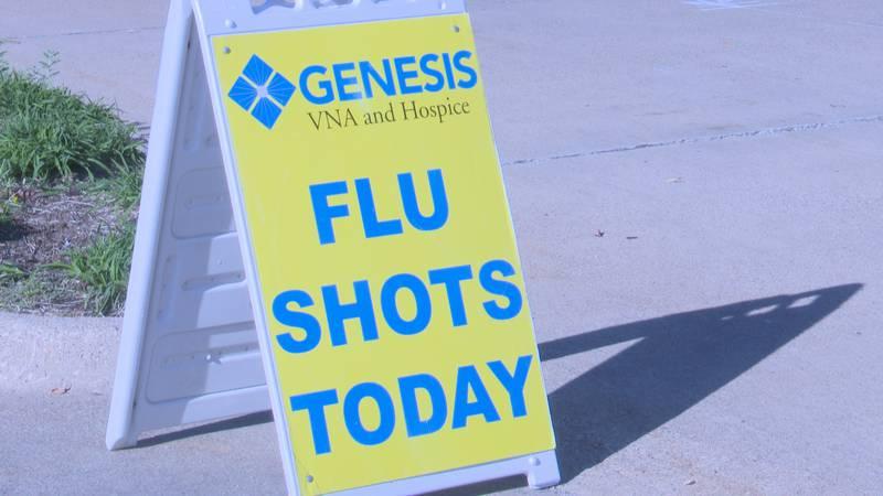 Genesis health holds drive by flu drive