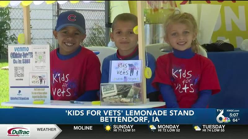 Bettendorf kids sell lemonade for veterans