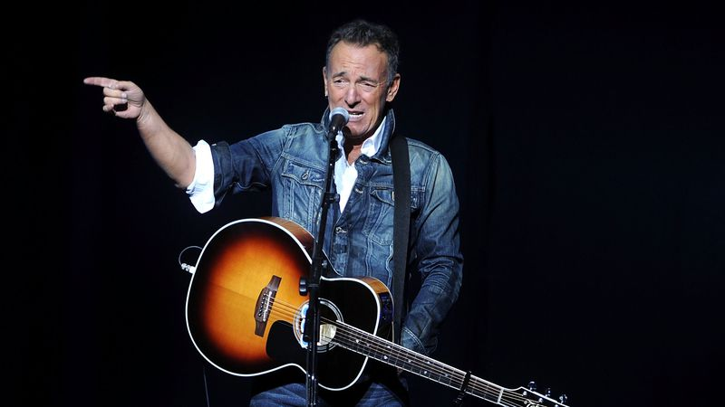 FILE - In this Nov. 5, 2018 file photo, Bruce Springsteen performs at the 12th annual Stand Up...