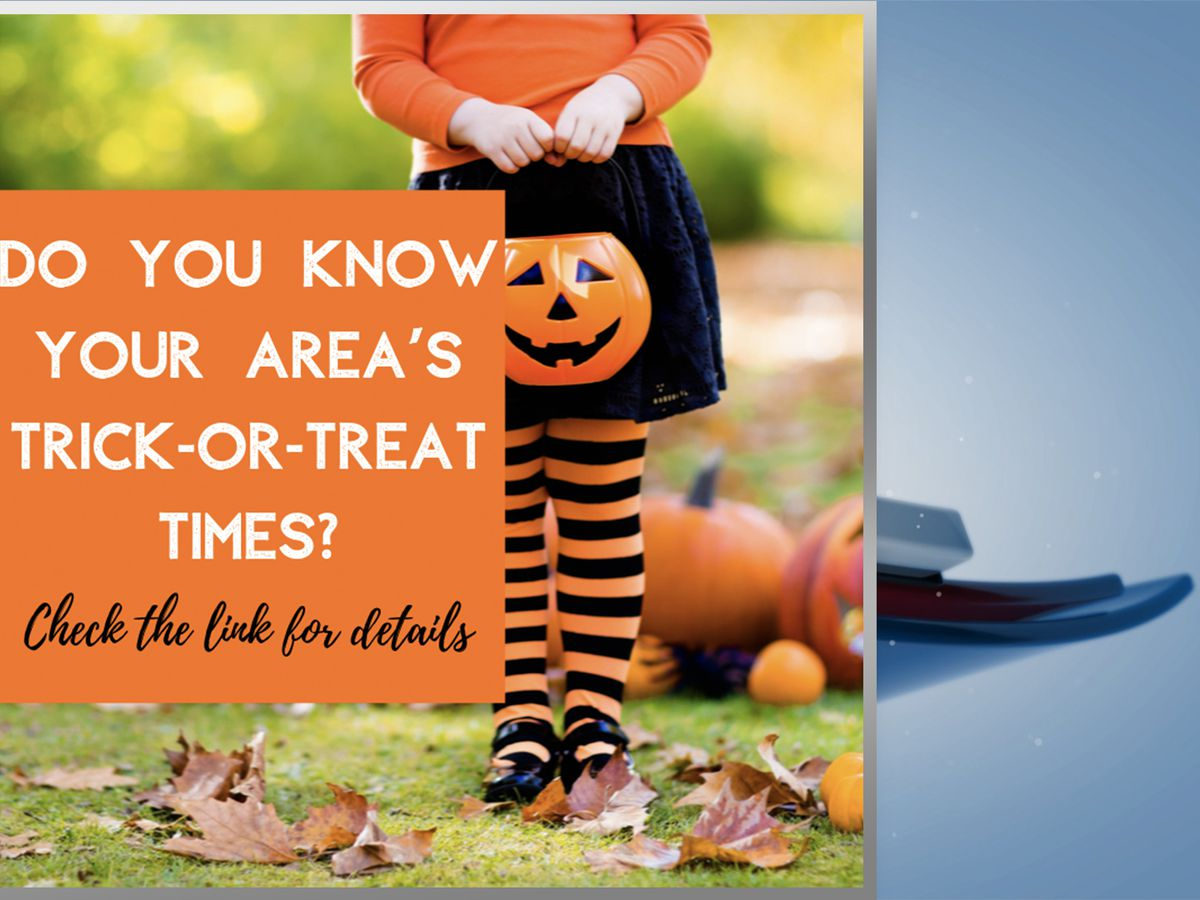 2019 Trick Or Treat Times In The Quad Cities Area
