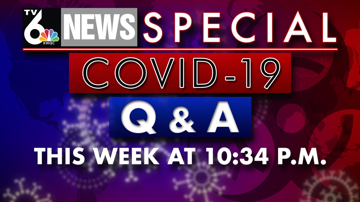 TV6 will be airing a news special focused on the new coronavirus, COVID-19. This special will start on Monday, March 16 and go until Friday, March 20. (KWQC)