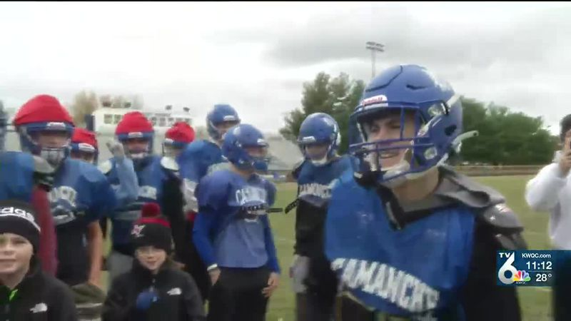 Camanche football star Jordan Lawrence is the TV6 Spotlight Athlete of the Week