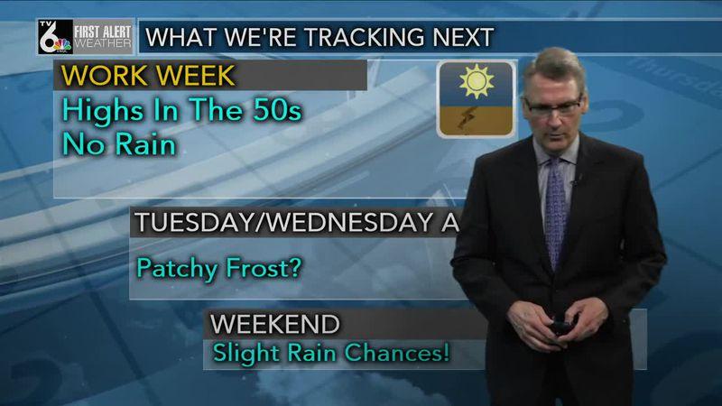 First Alert Forecast - Cooler temperatures through the week