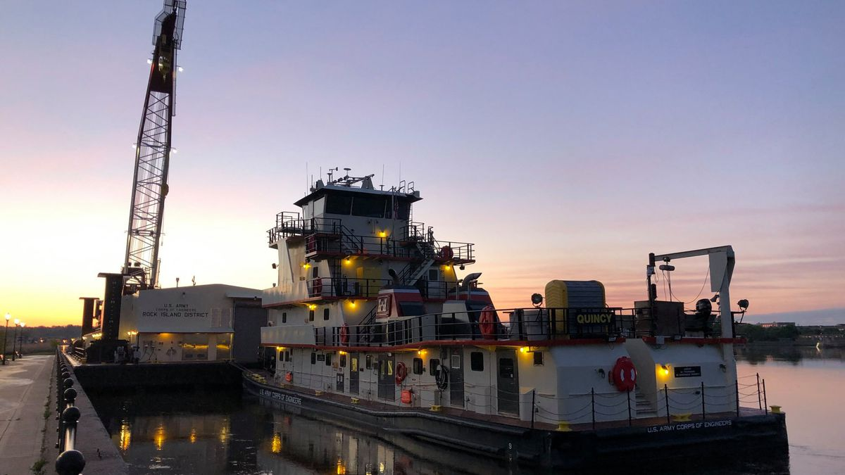 Officials with the U.S. Army Corps of Engineers say public tours of the crane barge will be...